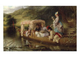Reflections, 1873 (Ladies in a boat) Giclee Print by Thomas Brooks