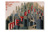 Metropolis, French Movie Poster, 1926 Posters