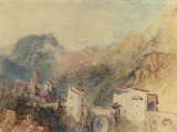 A Castle in the Val d'Aosta, Italy Art by William Turner
