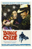 Bonnie and Clyde, Spanish Movie Poster, 1967 Prints