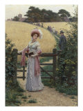 Sunday Morning, 1891 Reproduction proc&#233;d&#233; gicl&#233;e par Edmund Blair Leighton