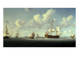 The Royal William and other Shipping in the Thames Estuary Giclee Print by Richard Paton