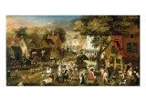 A Village Feast Poster by Pieter Balten