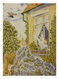 Wieder daheim, Illustration, 1928 Print by Hans Baluschek