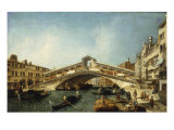 Venice, the Rialto Bridge from the South Giclee Print by Francesco Albotto