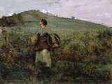 At Harvest Time, 1880 Giclee Print by Jules Bastien-Lepage