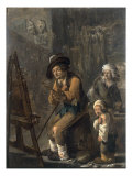 The Poor Painter in his Studio Giclee Print by Andries Both