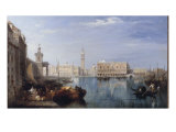 Doges Palace and the Grand Canal from the Dogana Giclee Print by Edward Pritchett