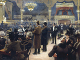 At the Music Hall in the Cirkus Bygningen, Jernbaneegade, Copenhagen, 1891 Prints by Paul Gustav Fischer