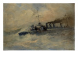 A Ship at Sea Giclee Print by Vassilios Hatzis