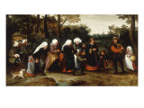 The Bride's Wedding Procession Giclée-Druck von Marten Van Cleve