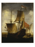 A Dutch Galleon and Other Coastal Vessels, 1655 Giclee Print by Jacob Adriansz Bellevois