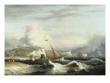 A Cutter and other Shipping off Dover, 1817 Giclee Print by Thomas Luny