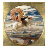 Perseus on Pegasus Hastening to the Rescue of Andromeda Print by Frederick Leighton