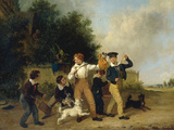 Boys with their Pets, 1841 Giclee Print by Edmund Bristow