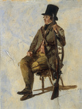 A Study of a Gamekeeper, 1834 Giclee Print by Thomas Sidney Cooper