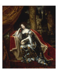 Portrait of Mary Stuart, Queen of England Giclee Print by Caspar Netscher