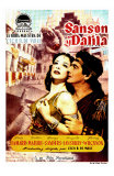 Samson & Delilah, Spanish Movie Poster, 1949 Poster