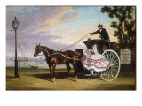 Alighting from a Coach near Cremorne Gardens Gicl&#233;e-Druck von Alfred Frank De Prades