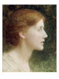 Portrait of Agnes Mallam (Mrs Edward Foster), 1921 Giclee Print by Frank Dicksee