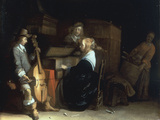 A Music Party Giclee Print by Gerard ter Borch