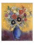 Fleurs dans un vase bleu (Flowers in a blue vase) Giclee Print by Odilon Redon