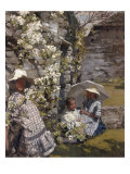 The White Parasol, 1914 Giclee Print by Hilda Fearon