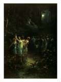 Midsummer Night's Dream Gicle-tryk af Gustave Dore