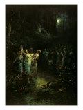 Sueño de una noche de verano Lámina por Gustave Doré