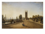 Magdalen Bridge, Oxford, 1859 Giclee Print by William Turner