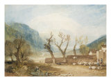 Mont Blanc from the Bridge of St Martins, Sallanches, c.1807 Giclee Print by J. M. W. Turner