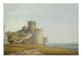 Caldicot Castle, Monmouthshire, 1797 Print by John White Abbott