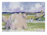 Haystacks at Iona Posters by Francis Campbell Boileau Cadell