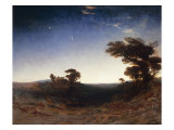 Landscape at Dusk Poster by John Martin