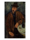 L'Homme au Verre de Vin, c.1918-19 Reproduction procédé giclée par Amedeo Modigliani