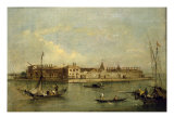Venice, the Island of Lazzaretto Nuovo Giclee Print by Giacomo Guardi