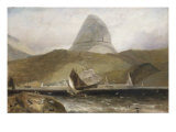 View of Ben Suilvenin from Loch Inver, Northwest Coast of Scotland Prints by William Daniell