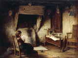 A Girl Reading Giclee Print by George Paul Chalmers