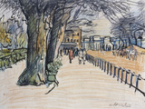 Rottenrow, Hyde Park, London Giclee Print by George Leslie Hunter