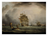 Shipping off Portsmouth Giclee Print by Thomas Buttersworth