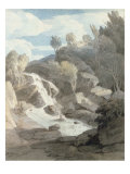 The Waterfall at Chudleigh Rocks, South Devon, 1787 Giclee Print by Francis Towne