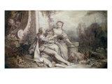 Pastorale a la Guirlande, 1742 (One of a pair) Art by Francois Boucber