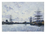 Deauville, Le Bassin a Maree Haute Posters by Eugene Boudin
