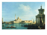 View of Venice from the Punta della Dogana towards San Giorgio Maggiore Poster by  Canaletto