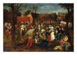A Wedding Feast Giclee Print by Marten Van Cleve