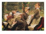 Le Banc de Jardin, 1882 Prints by James Tissot