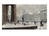Figures entering the Law Courts, Nytorv Copenhagen, 1924 Giclee Print by Paul Gustav Fischer