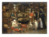 The Visit to the Farm Giclee Print by Pieter Bruegel the Elder