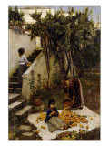 he Orange Gatherers Giclee Print by John William Waterhouse