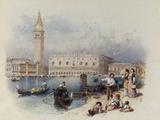 Doges Palace, Venice Print by Myles Birket Foster
